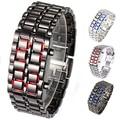 De Acero inoxidable Reloj de Pulsera de Mujeres de Los Hombres de la Lava del Hierro del Samurai del Metal LED Faceless reloj de pulsera Nuevo Diseño 5DBP