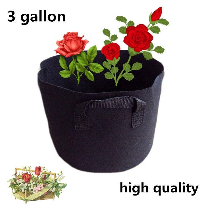 δωρεάν παράδοση Υψηλής ποιότητας υλικά κηπουρικής φύτευση τσάντες φέτες σακούλες 220g / m2 Για καμφορά δέντρο, μπαμπού 3gallon 22 * 27cm