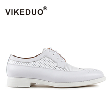 New fashion leather leisure VIKEDUO wedge shoes lace up shoes summer spring flat white high quality 17 new models of high end goods leather shoes leisure shoes fashion shoes