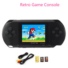 Hot Sale 2.7inch 16 Bit Portable PXP3 SLIM Handheld Video Game Players Games Console with 160 Games + 2pcs Game Card