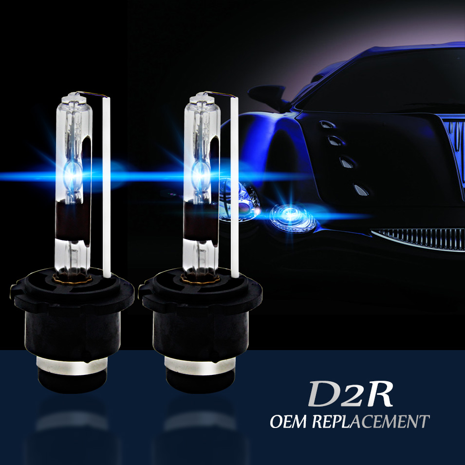 Auto Care D2R Auto HID Xenon Replacement Headlight Lamp Bulb D2R 55W 12V Light Source 4300K 5000K 6000K 8000K 10000K 12000K 2pcs lot d2r 55w 12v car hid xenon bulb for replacement auto headlight lamp light source 4300k 5000k 6000k 8000k 10000k 12000k