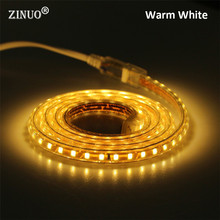 220V LED Strip 2835 120Leds/M IP67 Waterproof With EU Power Plug Tape Light String Ribbon Brighter Than 3528 5630