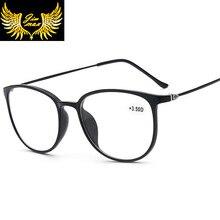 Nowy projekt kobiety styl CR39 soczewki Tr90 okulary do czytania moda pełna obręczy okrągłe okulary starczowzroczne dla kobiet oculos de leitura