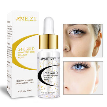 15ml 24K Gold Hexapeptide Hyaluronic Acid Essence Face Skin Care Shrink Pores Anti Aging Intensive Lifting Anti Wrinkles TSLM2