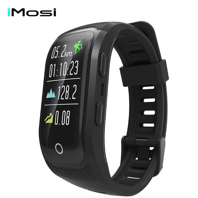 Imosi S908 PLUS Color Screen Activity Fitness Tracker smart band IP68 Waterproof GPS Heart Rate Monitor sport wristband bracelet
