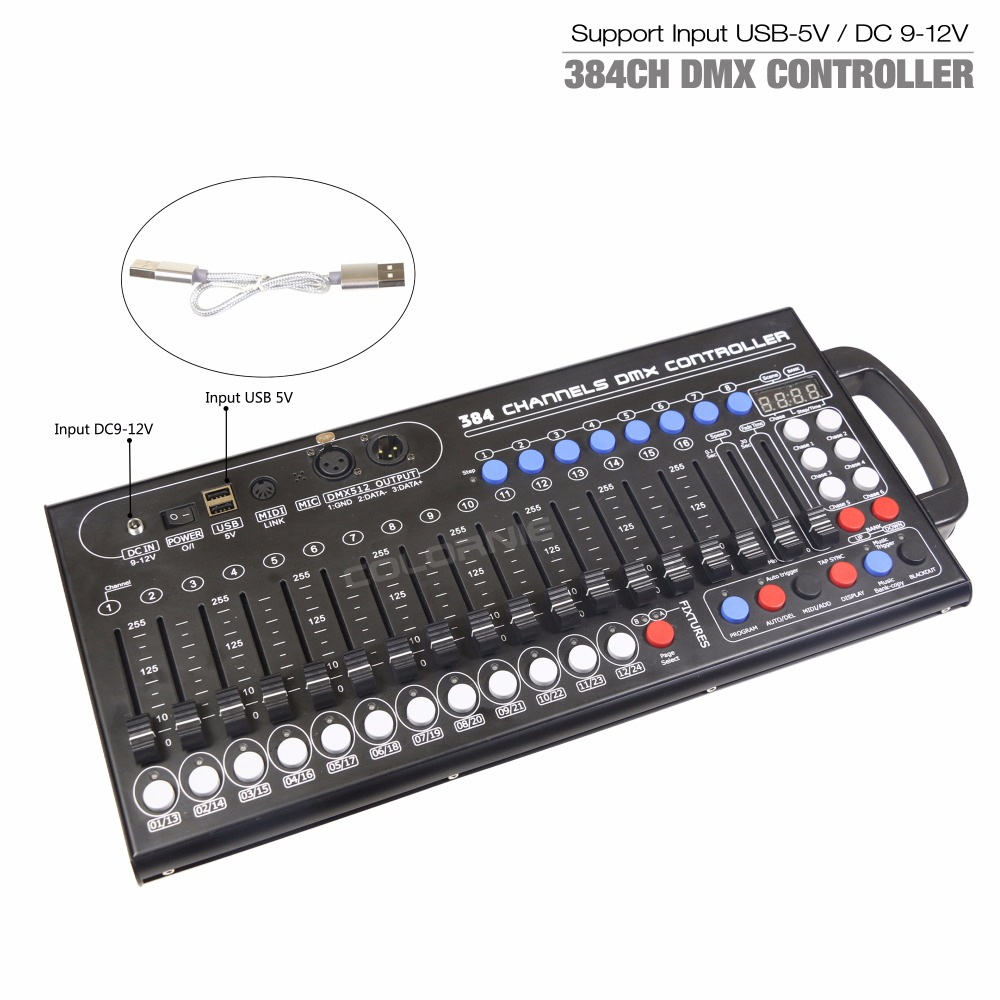 Image 3 - New Ultra thin 384ch DMX LED Controller Stage Lighting Controller Moving Head Console For DJ KTV Move RGB lamp-in Stage Lighting Effect from Lights & Lighting