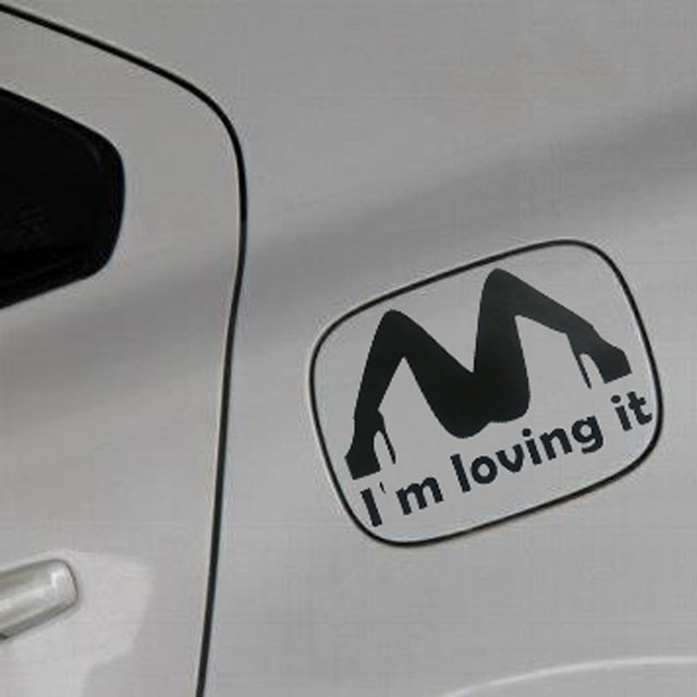 Car styling im loving it design sexy style funny car sticker and decal