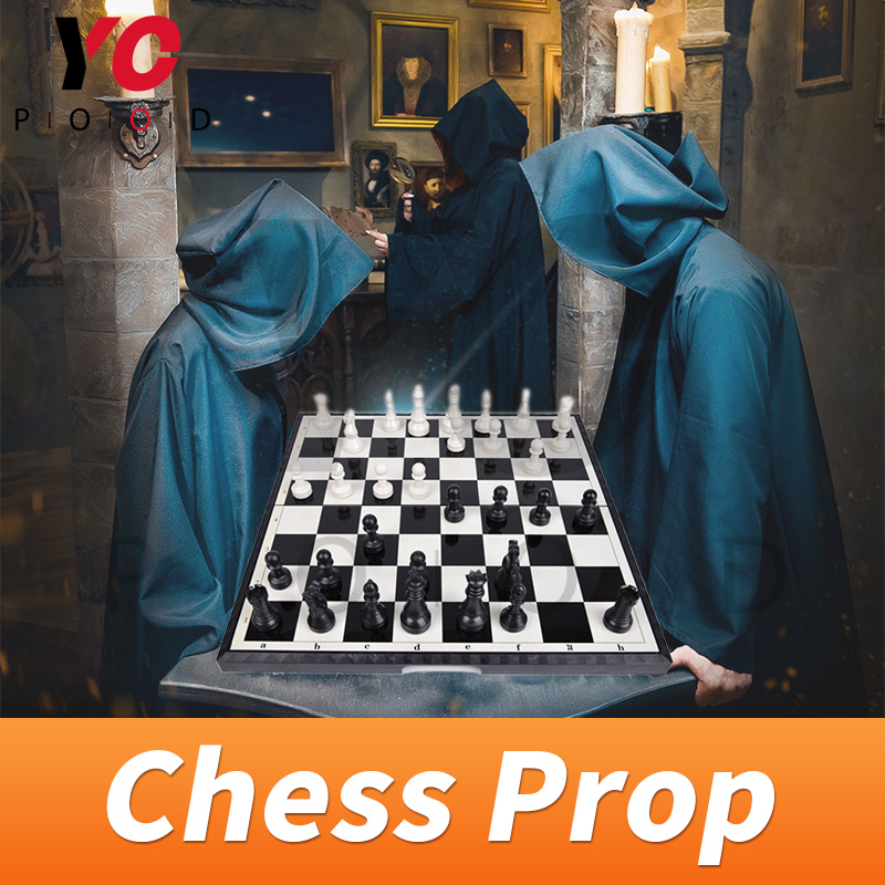 Chess Prop real life escape room Takagism game put chessmen at the right place to unlock collapsible chess supplier YOPOOD