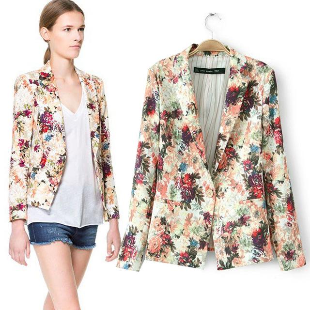 20146 Primavera Nova Marca Chegada Mulheres Blazers Moda Emagrecimento Mulheres Casaco Paletó