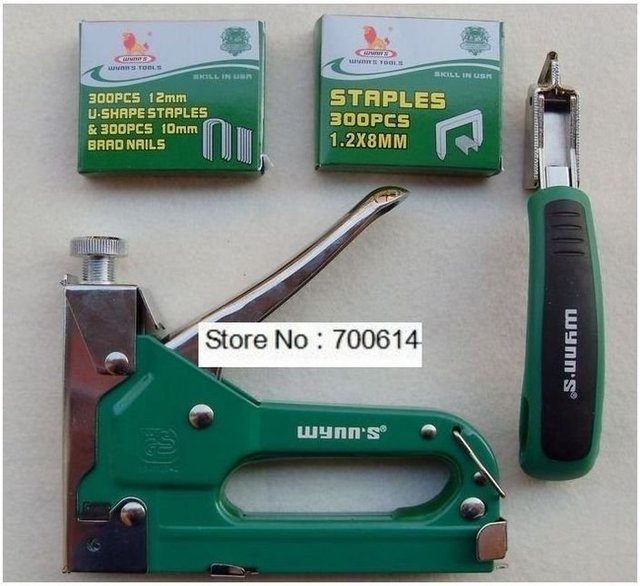 W0566 3-way Staple gun and remover set powerful portable nail gun or gas nailer set