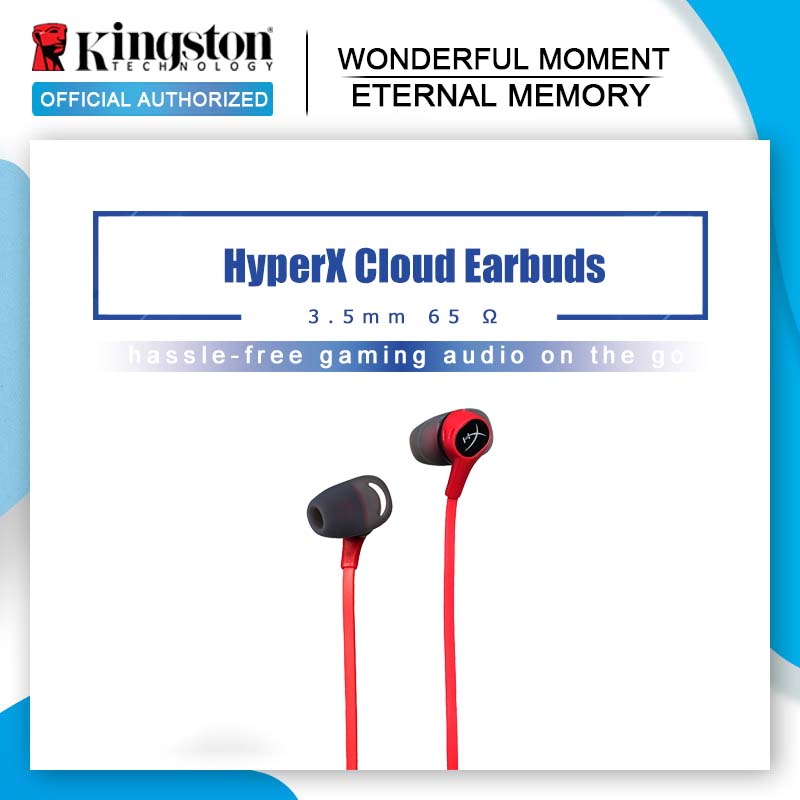 Kingston Gaming Headset HyperX Cloud Earbuds In Ear headset With a microphone Immersive in game audio