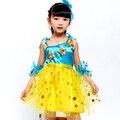 Hot Sell Children Kids Sequins Fringe Stage Performance Dress Competition Girls Ballroom Dance Costumes Latin Dance Dress