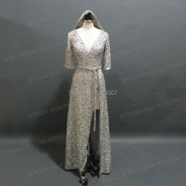 Myriam Fares Celebrity Dress V ausschnitt Halbarm Mit Kapuze ...