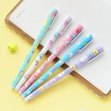 цена на 10pcs Korean kawaii animal gel pen 0.5mm ballpoint roller ball pens for writing gift stationery Office school supplies FB123