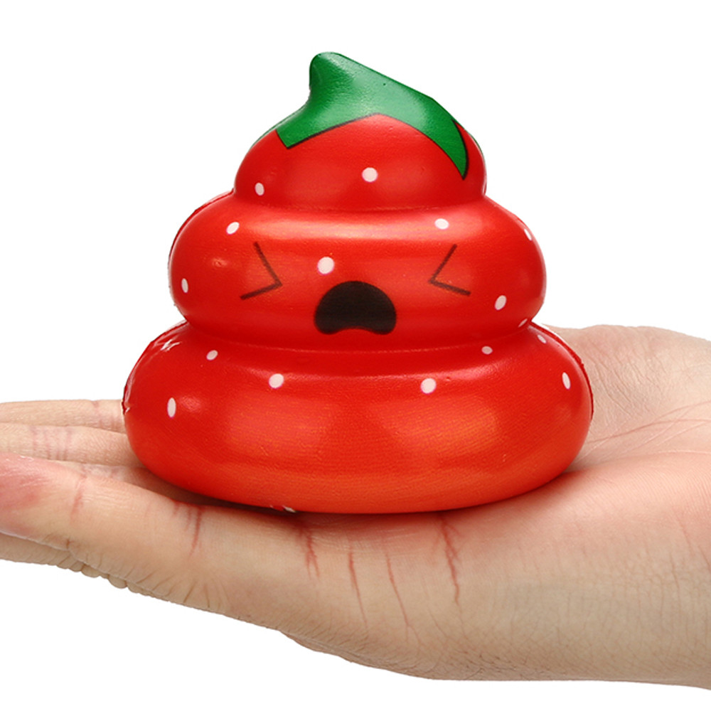 Squishy Slow Rising Squeeze Kid Toy Squishy Soft Kawaii Yummy Fruit Poo Slow Rising Cream Scented  Stress Relief Toys