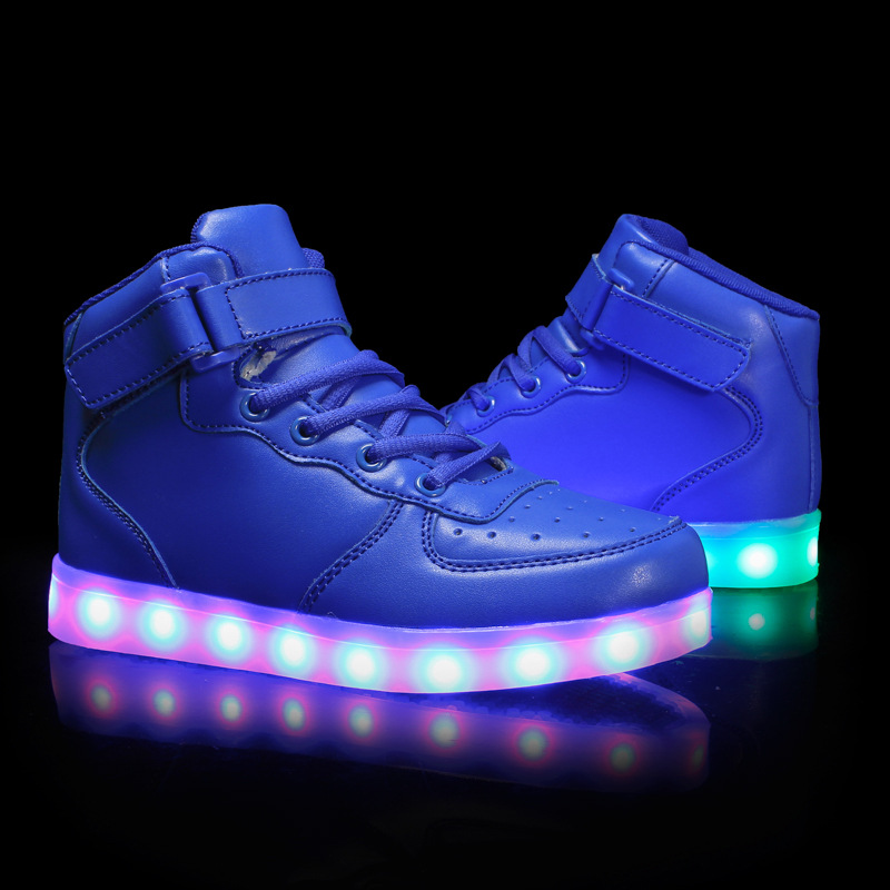 KINE PANDA USB Charging Led Luminous Glowing Sneakers for Children Shoes With Light up Kids Girls Boys Boots Women Men 25-42 size 25 46 fiber optic backlight led shoes for girls boys men women new usb charging luminous sneakers glowing light up shoes