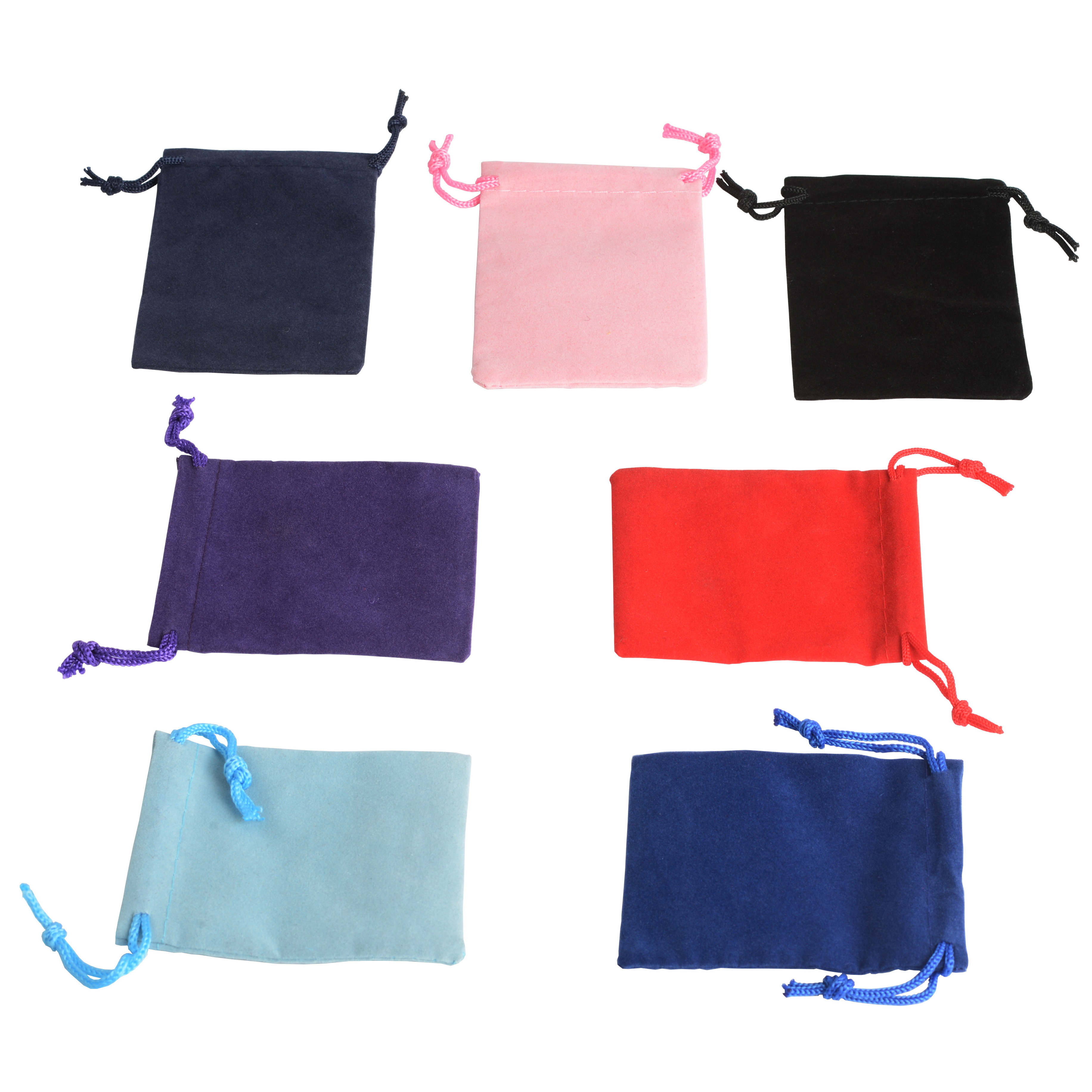 50Pcs 5x7 Velvet Bag Drawstrings Pouches Small Jewelry Gift Display Packing Bags Candy Party Festival Christmas Wedding Activity