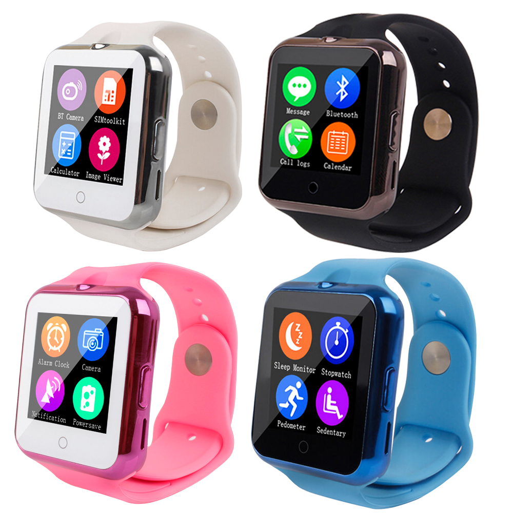 Health Bluetooth Smart Wrist Watch Phone V88 Smartwatch with GSM SIM TF Card UV Test Heart