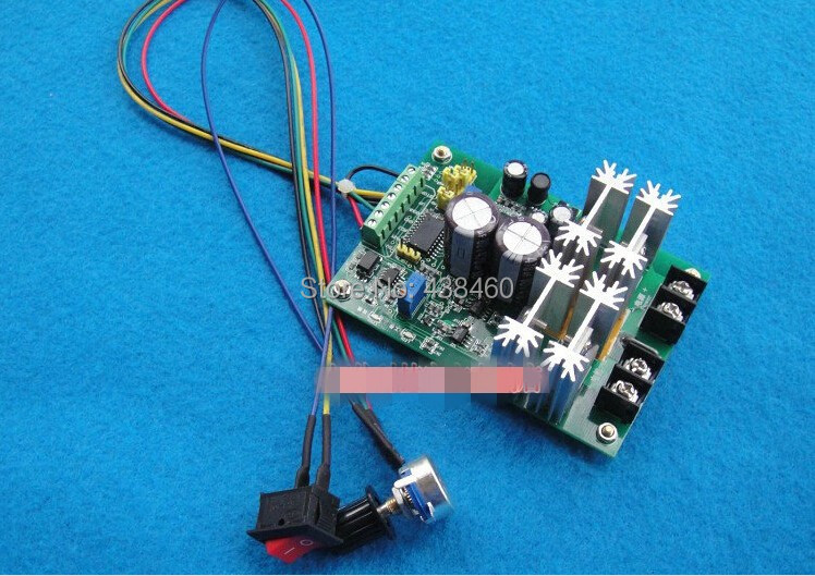 New Reversible DC12V to 60V motor driver speed control Governor Soft Start H-BridgNew Reversible DC12V to 60V motor driver speed control Governor Soft Start H-Bridg