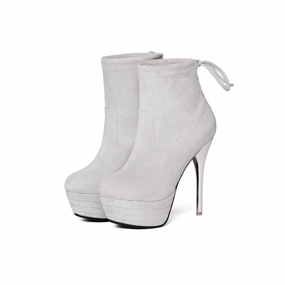 Femme Hauts Hiver Brun Gris 2017 Automne Black grey Bottes Printemps brown 13 Chaussures Cm Mince Stretch Mode Pour Cheville Et Arden Talons Furtado X7qFxgwU