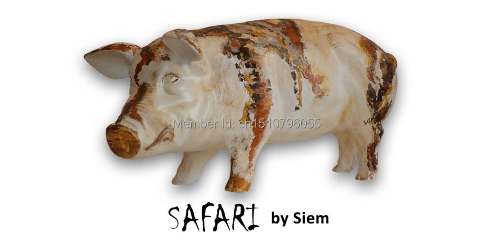 """Umělá prasata Polyresin Sběratelská prasata Umělecká prasata sochy """"Safari"""""""