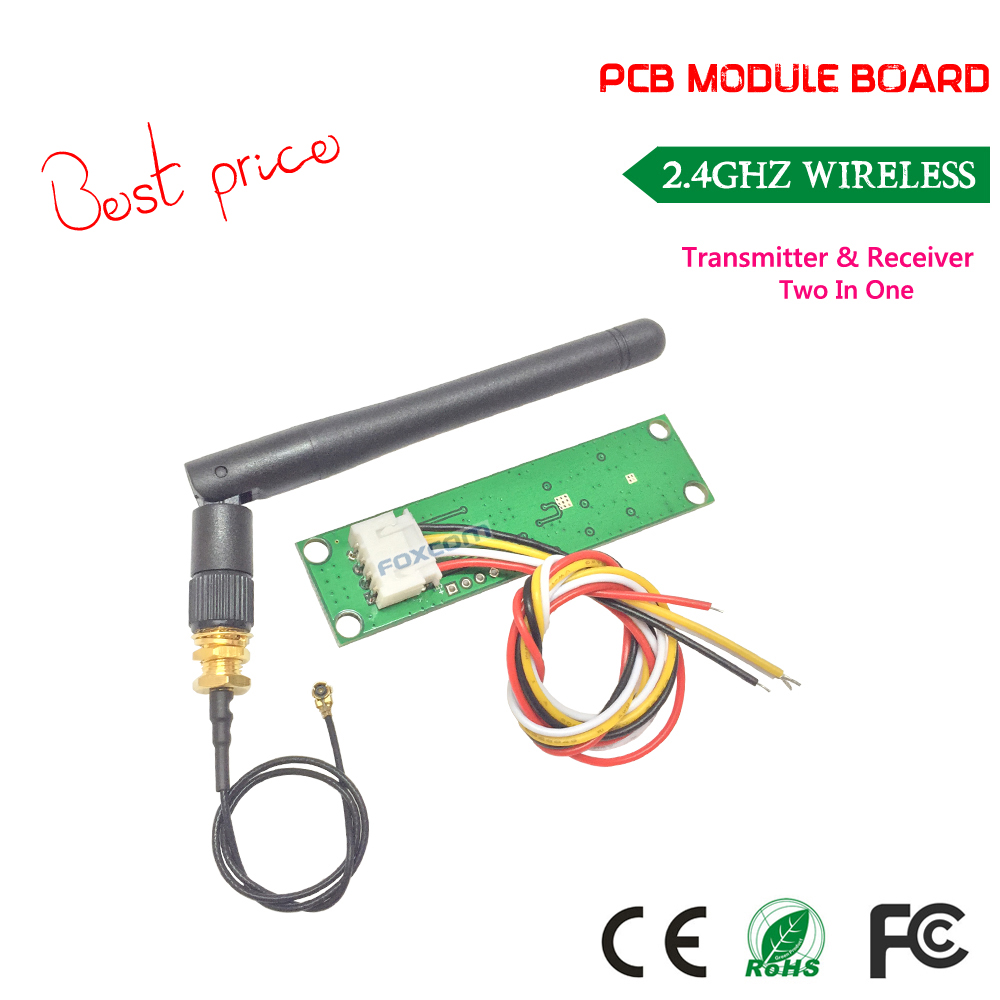 Free shipping best price Wireless DMX512 2.4G Led Stage Light PCB Modules Board LED Controller Transmitter Receiver with Antenna