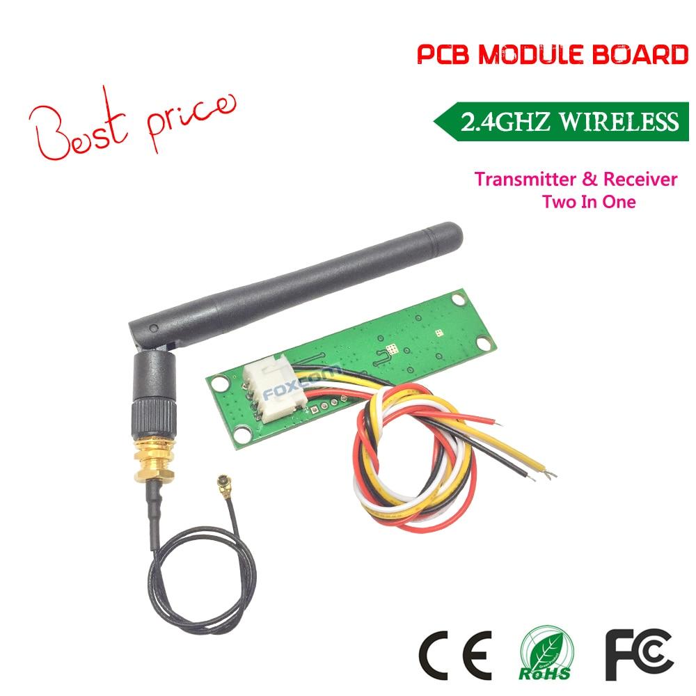 Penghantaran percuma harga terbaik Wireless DMX512 2.4G LED Stage Light PCB Modul Papan LED Controller Transmitter Receiver dengan Antena