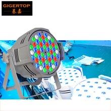 TIPTOP TP-P54C 200W 54 LED Flat Par Lights RGBW Lamp for Club DJ Party Stage DMX512 Control Casting Aluminum White Housing ROHS