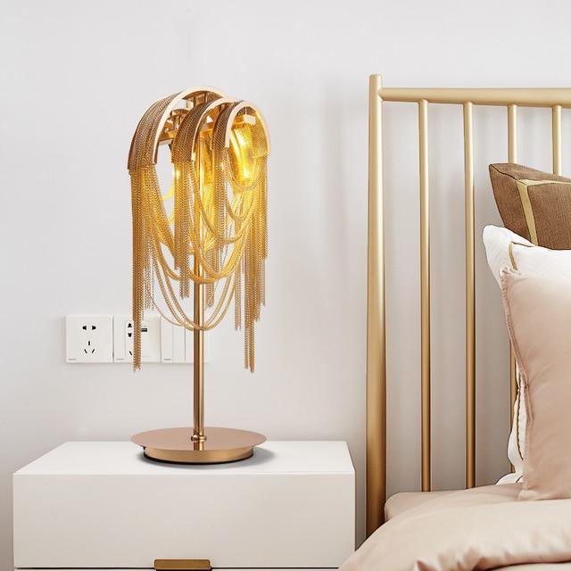 Golden Table Floor Lamp