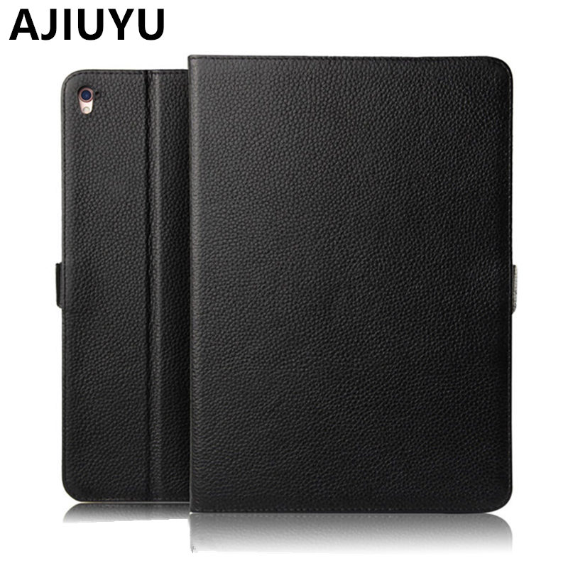 AJIUYU Case Cowhide For Apple iPad Pro 9.7 inch Cases Protective Smart Cover Protector Genuine Leather Tablet For iPadPro9.7 for apple ipad pro 9 7 cases alabasta