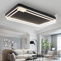 Алюминий Современная led квадратных потолочные светильники для гостиной спальня столовой дома прямоугольник потолочный светильник освещен