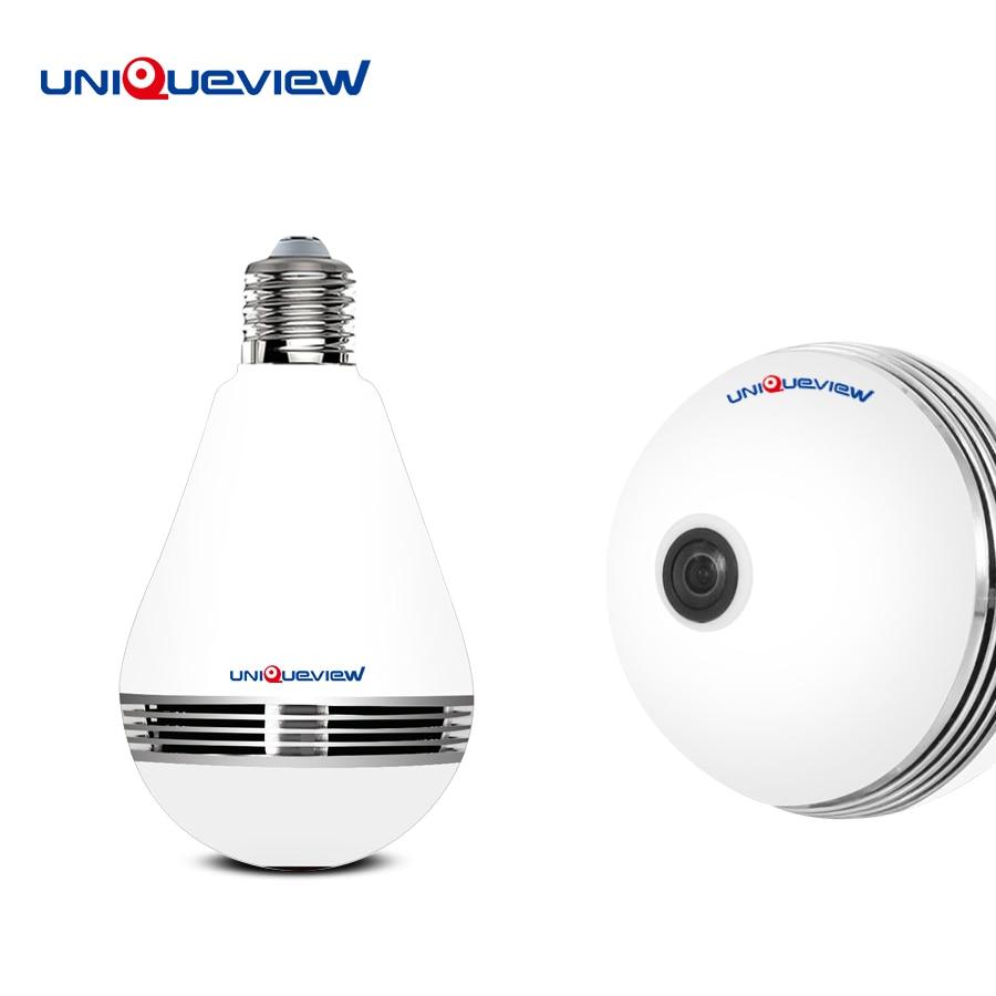1.3mp 360 degree Wireless IP Camera Bulb Light FishEye