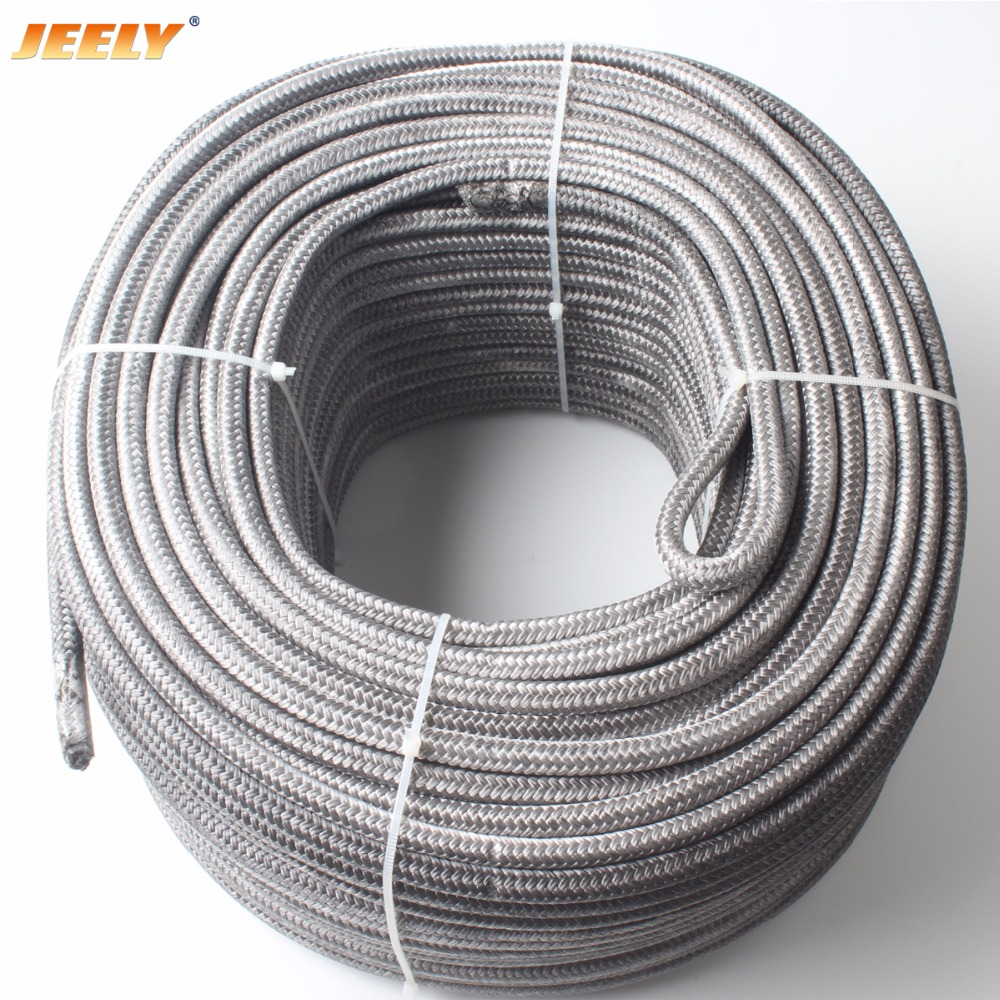 Free Shipping 4mm 100m UHMWPE Spectra Core with Polyester Jacket Sailboat Winch Spectra Sheathed Tow Rope