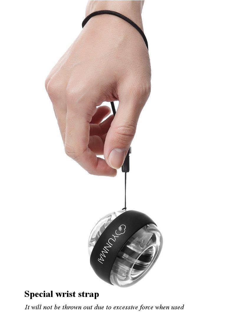 Xiaomi mijia yunmai Wrist Trainer LED Gyroball Essential Spinner Gyroscopic Forearm Exerciser Gyro Ball for Mijia mi home kits # (9)
