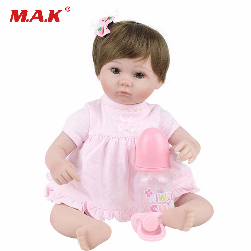 45cm Girl Silicone Dolls Baby-Reborn 18 Inches doll Body Baby Doll Vinyl Newborn Dolls Birthday Christmas Gift american girl dolls pajamas girl doll accessories princess doll clothes fit 18 inches clothes baby birthday christmas gift zk12