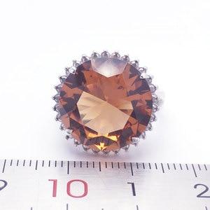 Image 5 - Женское кольцо с зултанитом CSJ, ювелирное изделие из стерлингового серебра 925 пробы с большим камнем 13 карат, 15 мм, с круглой огранкой, для свадебной вечеринки