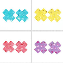 10 pairs (20Pcs) Women Sexy Adhesive Breast Petal Pasties Nipple Cover Cross/X Seamless Disposable Pasties Pasties цена