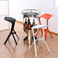 1PC Plastic  Creative Cafe Hotel Modern Dining Chair plastic-chair