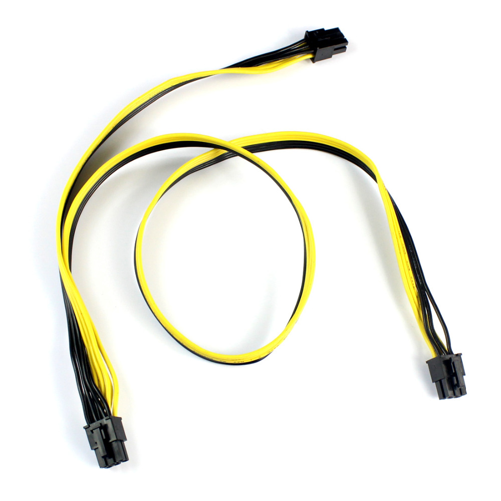 PCI-E PCIe PCI Express 6Pin male to Dual Double 2-Port 6Pin Male Adapter GPU Video Card Power Cable 18AWG F21516 кабель orient c391 pci express video 2x4pin 6pin
