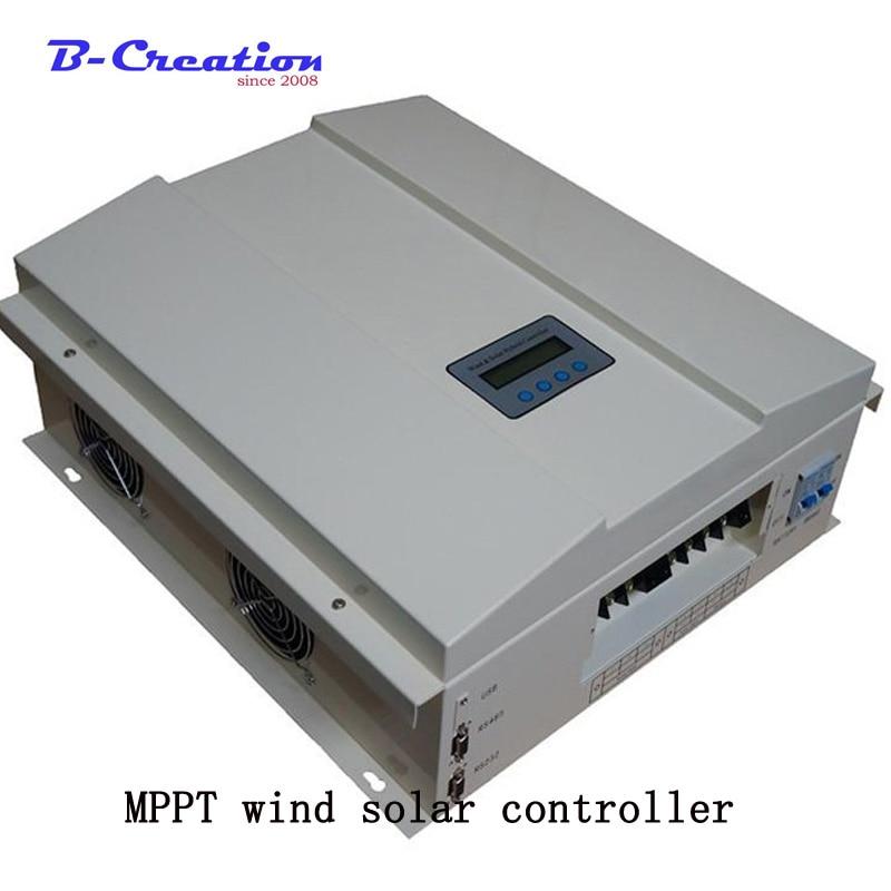 Prezzo di fabbrica 2000w 48 v/96 v/120 v 2000w vento Off Grid Intelligente MPPT Vento ibrido solare Regolatore di Carica con display LCD