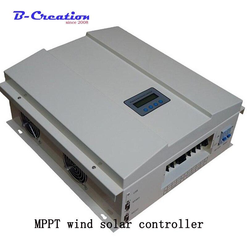 Prix usine 3000 w 48 v/96 v/120 v 2000 w vent hors réseau Intelligent MPPT vent solaire hybride contrôleur de Charge avec écran LCD