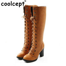 Size 35-43 Women Over Knee Boots Cross Strap High Heel Winter Botas Feminina Fashion Zipper Warm Long Boot Footwear Shoes AH103