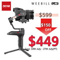 Zhiyun Weebill LAB Camera Stabilizer Draadloze Afbeelding Transmissie voor Mirrorless Camera Handheld 3-Axis Gimbal vs Crane 3