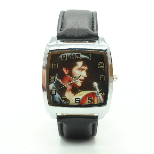 Free Shipping Elvis Presley Watches Women Fashion Quartz square Watch Relogio Fe