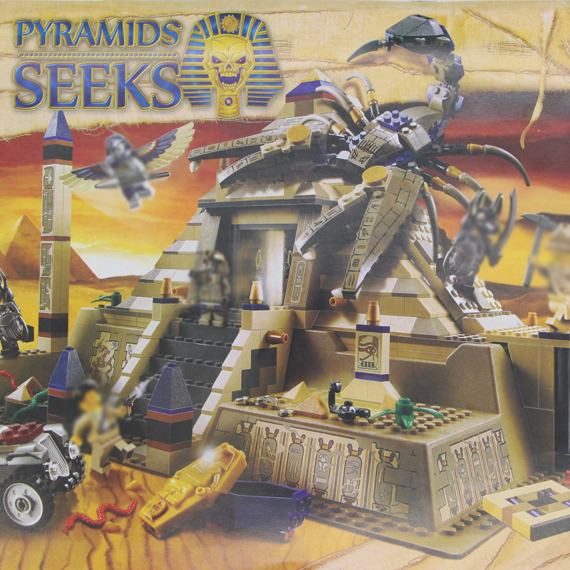 building bricks 31001 Egyptian PYRAMIDS SEEKS The Scorpion King 827pcs Building Blocks Toys 7327 eglo 31001
