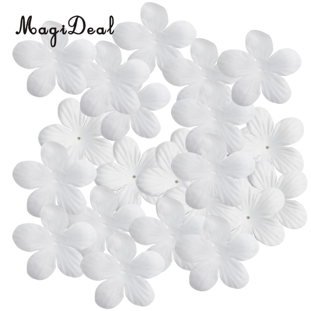 MagiDeal 200pcs Artificial Silk Flower Petals for Wedding Decoration DIY Hair Bow 4cm White