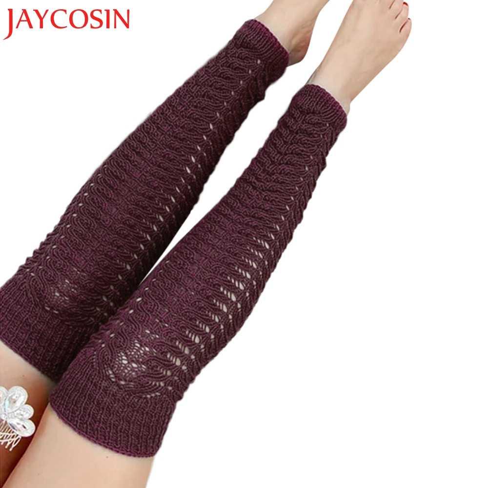 Damskie jesienne i zimowe jednokolorowe bandaże na linii wełny kolanowej podkolanówki getry bawełniane pończochy Dropship Oct.31