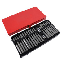 Household tool set for repair 40 / various electric screwdriver head set hex star and spline bit sleeve ratchet