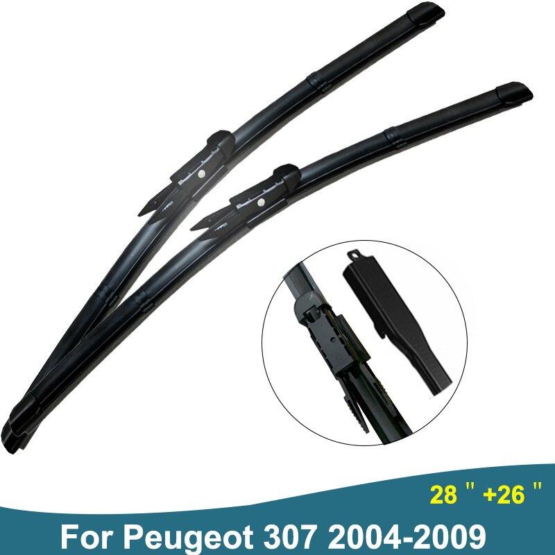 Für Peugeot 307 Zubehör Auto Wischer Klinge gummi Scheibenwischer Windschutzscheibe