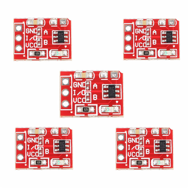 Electronic Components & Supplies New Arrival 5pcs 2.5-5.5v Ttp223 Capacitive Touch Switch Button Self-lock Key Module For Arduino L8 Best Price